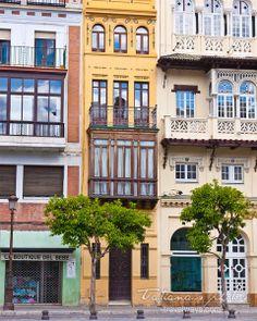Windows in Sevilla, Spain