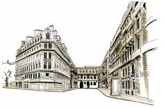 Rue de Richelieu Sketch