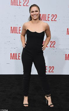 Ronda Rousey attends the premiere of STX Films' 'Mile at Westwood Village Theatre on August 9 2018 in Westwood California Ronda Rousey Hot, Ronda Jean Rousey, Prettiest Actresses, Beautiful Actresses, Ronda Rousy, Wwe Divas Paige, Rowdy Ronda, Famous Women, Female Athletes