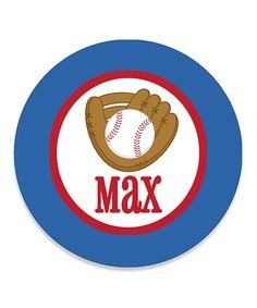 This Baseball Personalized Plate by Print the Party is perfect! Color Me Mine, Personalized Plates, Chicago Cubs Logo, Team Logo, Baseball, Logos, Party, Logo