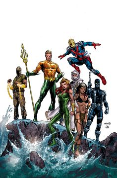 AQUAMAN AND THE OTHERS #11 Written by DAN JURGENS Art by LAN MEDINA and ALLEN MARTINEZ Cover by DAN JURGENS and JOE PRADO On sale MARCH 4 • 32 pg, FC, $2.99 US • RATED T • FINAL ISSUE This is it: the final showdown between Aquaman and the Others and the members of Mayhem! KGBeast and Cheshire stand ready to destroy Earth in their maniacal efforts to take down Aquaman's team, but the king of Atlantis is without mercy. Blood will be spilled!