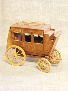 Stage Coach Folk Art Handmade Handmade Toys Folk by wilshepherd