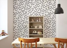 smiles wallpaper designed by Humpty Dumpty Room Decoration