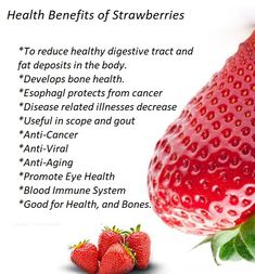 Strawberry Health Benefits, All Fruits, Bone Health, Immune System, Anti Aging, Healthy, Food, Essen, Meals