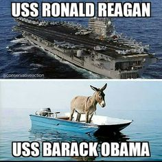 ✴Obama is a jackass and a pussy✴ Meryl Streep, Uss Ronald Reagan, Military Humor, Political Views, God Bless America, Barack Obama, Dumb And Dumber, I Laughed, Funny Pictures