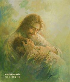 주 품에...In the arms of the Lord 2011년작 10호 F oil on canvas ...by Yongsung Kim