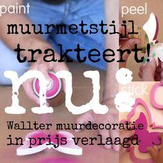 Profiteer in 2013 nog van een leuke korting op de Wallter muurdecoratie. Kijk snel in onze webshop www.muurmetstijl.nl