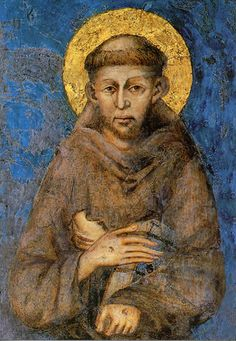 """Remember that when you leave this earth, you can take with you nothing that you have received—only what you have given.""  — Saint Francis of Assisi (painting by Cimabue)"