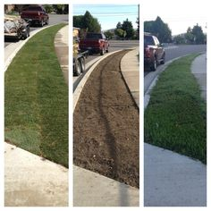 Installed sod at the #Murray #Utah residence to help curb appeal. Take a look at the difference. #landscaper #landscaping #saltlakecounty