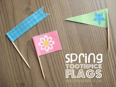 Stay-at-Home Artist: spring toothpick flags (free printable)...