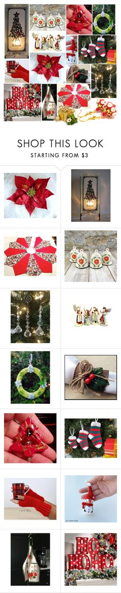 HO HO HO! by belladonnasjoy on Polyvore featuring Cadeau, Improvements, Napco, modern, rustic and vintage