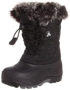 Kamik Snowgypsy Boot (Toddler/Little Kid/Big Kid),Black,3 M US Little Kid
