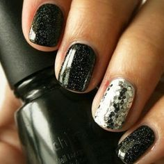 Kick in the new year with dark,shiny, and new! #bold #nails #newyears #2014 #styleguide