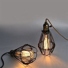 Retro Chandeliers Personality Innovative Style Led Small Metal Cages Chandeliers Minimalist American Rural Study Living Room Restaurant Cafe Lamps 8 Heads The Factory Without Light Source ** Want to know more, click on the image. (Note:Amazon affiliate link)