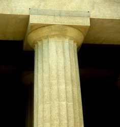 I like this doric column because of it's cream colour and it's elegance Ancient Greek Architecture, Classical Architecture, Architecture Details, Interior Architecture, Hellenistic Period, Architrave, Parthenon, Ancient Greece, Nashville