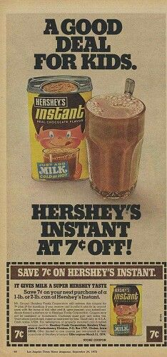 I remember this kid on the container of Hershey's Chocolate milk powder