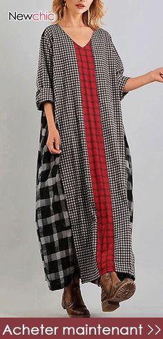 Imprimé floral viscose robe tissu Design-V1816-Rose-M