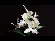 ABC TV | hướng dẫn làm hoa gừng trắng từ giấy nhún - hướng dẫn thủ công - YouTube