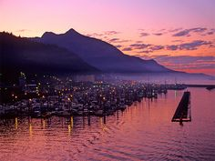 This is why twilight is known as 'Magic Hour'. Ketchikan Harbour, Alaska.