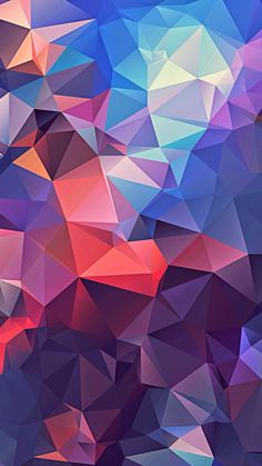 iPhone, Abstract, Low Polygon, Colorful, Art - Wallpaper