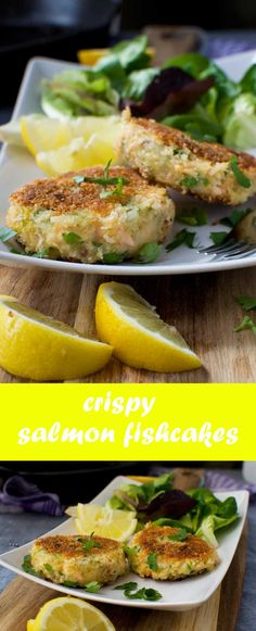 Basic crispy salmon fishcakes. They aren't posh, but they're easy to make and full of subtle flavors!