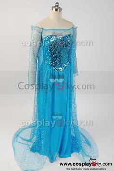 frozen elsa costume | Frozen Snow Queen Elsa Fancy Dress Costume Cosplay---- Frozen Cosplay ...