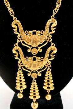 Vintage Ornate Byzantine Style Necklace via Etsy  $45.00 #byzantium