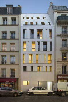 Rue des Poissonniers Housing,© Cecile Septet