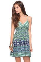 blue/green summer dress