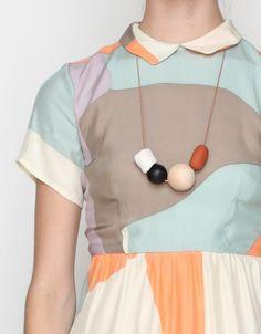 Jane Collar Dress In Maps