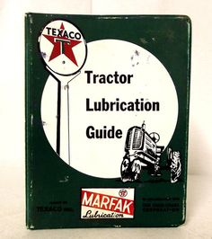 Vintage Texaco Tractor Lubrication Guide by honeyblossomstudio