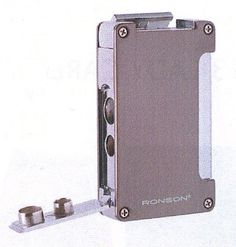 Ronson Window deluxe turbo lighter - grey - Ronson - Gift Lighters
