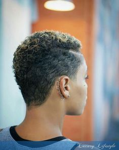 Photo by Stephan Swearingen in Plush Midtown with and Natural Hair Short Cuts, Short Natural Haircuts, Tapered Natural Hair, Short Sassy Hair, Short Afro, Natural Hair Styles For Black Women, Curly Hair Cuts, Short Hair Cuts, Curly Hair Styles