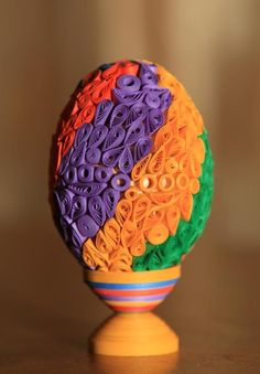 quilled egg ..