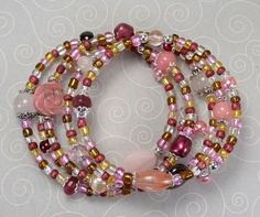 'Raspberry Rose Wrap Bracelet' is going up for auction at  6pm Fri, Jul 27 with a starting bid of $10.