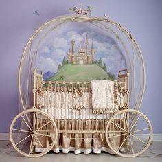 ❥ Princess carriage crib!