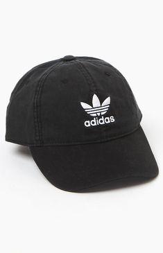 a429e884428 adidas Washed Black Strapback Dad Hat