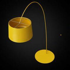 Outdoor Floor Lamps, 3d Visualization, Twiggy, Furniture Design, Wall Lights, House Design, Lighting, Modern, Mustard