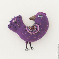 """Купить Брошь """" Пичужка"""" - птичка, брошь-птичка, украшение, подарок, птица, подарок девушке"""