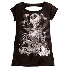 Jack Skellington Tee for Women | Tees, Tops & Shirts | Disney Store