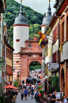 Rincón del centro histórico de Heidelberg en Alemania