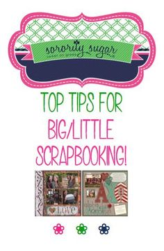 Many chapters exchange scrapbooks as part of their big/little program. Get great ideas for filling the pages of your big/little scrapbook with love & creativity.