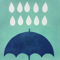 #printing #paper #painting #illustration #workinprogress #polkkajam #umbrella #raindrops