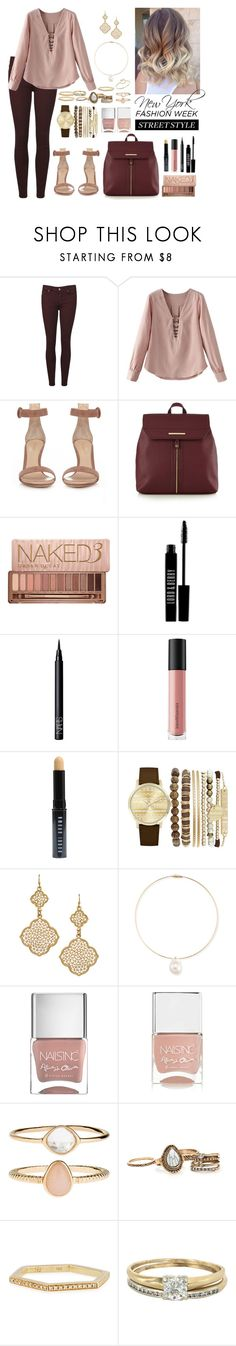 """""""NYFW Street Style"""" by katymccord77 ❤ liked on Polyvore featuring Paige Denim, Gianvito Rossi, Red Herring, Urban Decay, Lord & Berry, NARS Cosmetics, Bare Escentuals, Bobbi Brown Cosmetics, Jessica Carlyle and Blu Bijoux"""