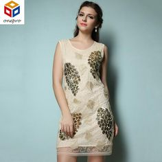New summer vintage women Great Gatsby beaded sequined embroidery party dress  sexy o neck mini tank dress 8528a806790d