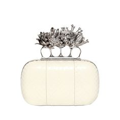 Alexander Mcqueen Whipsnake Short Knucklebox Clutch ($2,745) ❤ liked on Polyvore