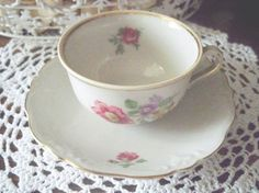 Demitasse Cup and Saucer by Gareis Kuhnl and Cie  by MemeresAttic