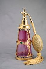 Rare Czech Jeweled Perfume Atomizer