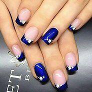 Snazzy white and blue nail polish (40 photos) - Nail Design