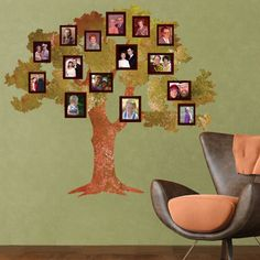 1 tree and 20 frame fabric wall stickers  ultra easy – simply peel and stick  create a family tree wall mural in minutes  repositionable, reusable, layerable  made from SafeCling™ fabric that won't stretch or tear  leaves no residue when removed  gorgeous design that looks hand-painted on the wall
